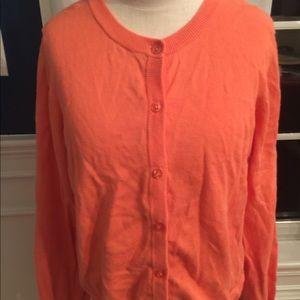 Lands end large orange sweater